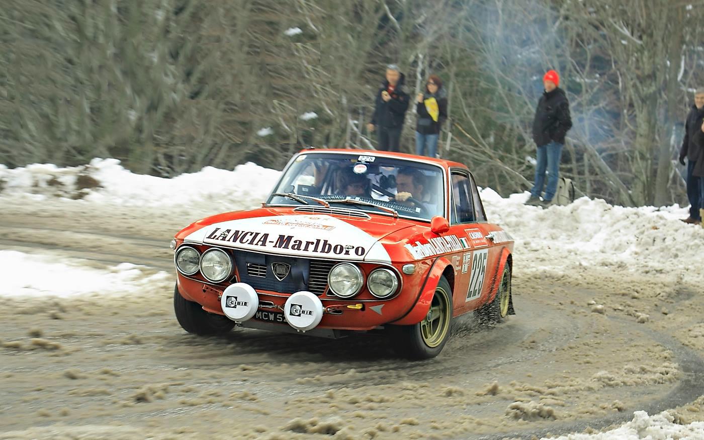 Montecarlo Storico 2014, D. Perfetti -  R. Kessel su Lancia Fulvia 1.6 HF Gr.4